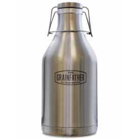 Grainfather Stainless Steel Swing Top Growler - 2L Capacity