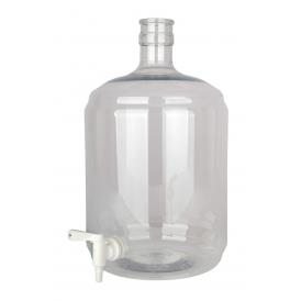 Carboy PET 12 litres with tap 5/16-7/16